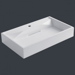 umývadlo drez BB087-3E (minerálna odliatok) 75cm