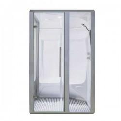 Profesionálna parná sauna aluminiumS200D 114x131 doprava/doľava